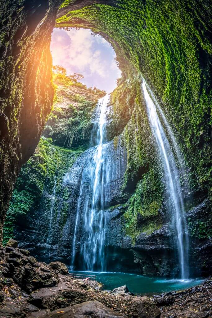 Tallest water fall in East Java, Indonesia