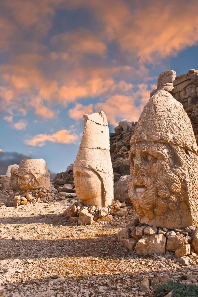 Nemrut Dagi statue heads in Turkey