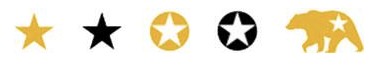 gold or black star, gold or black star cutout, yellow bear with star